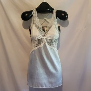 White Lace Teddy by Frederick's of Hollywood+Robe